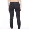 Vegan Suede Tuxedo Leggings - Black with Nocturne print