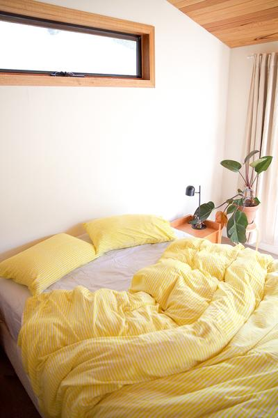 Yellow Stripe Quilt Cover Set