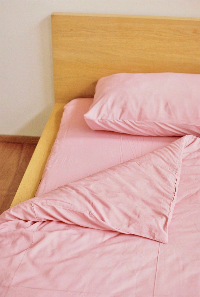Dust Pink Quilt Cover Set