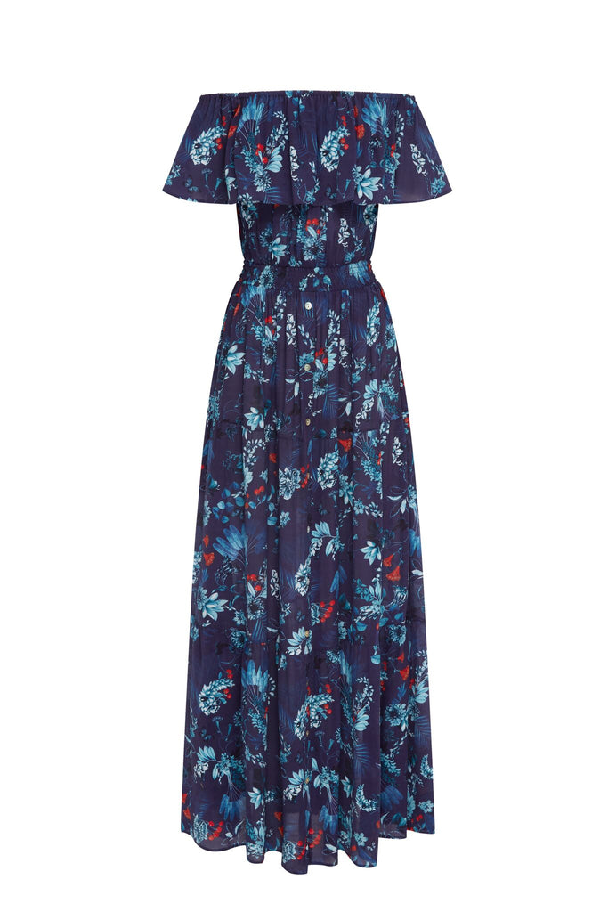 Navy Berry 3-Ways Maxi Dress