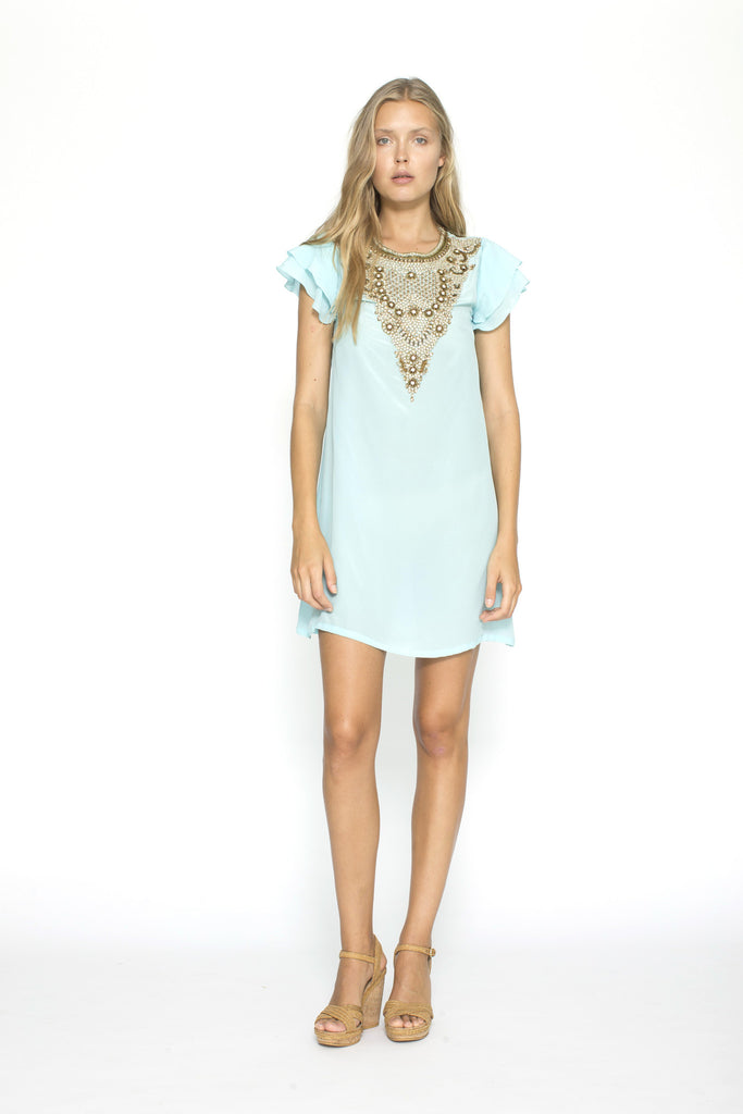Astrapia Aqua Bejewelled Dress