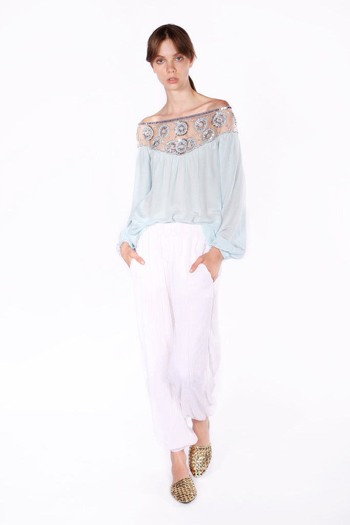 Full Circle Blouse - Blue