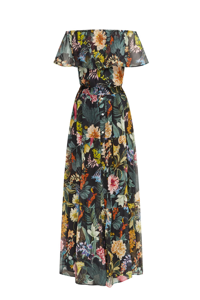 Black Floral 3-Ways Maxi Dress