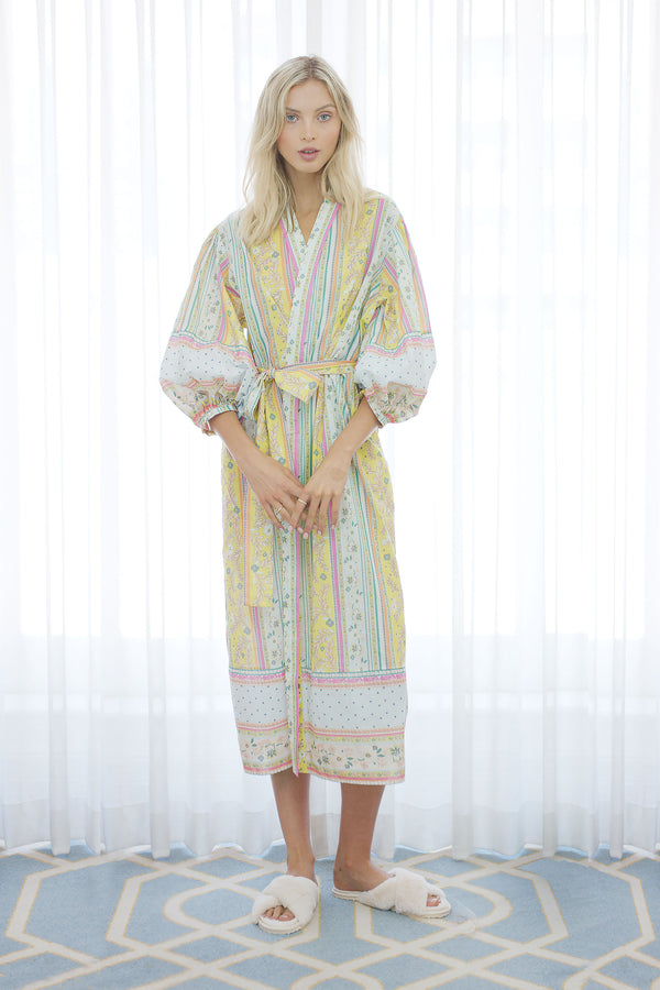 Rosebud Floral Beach Wrap Robe