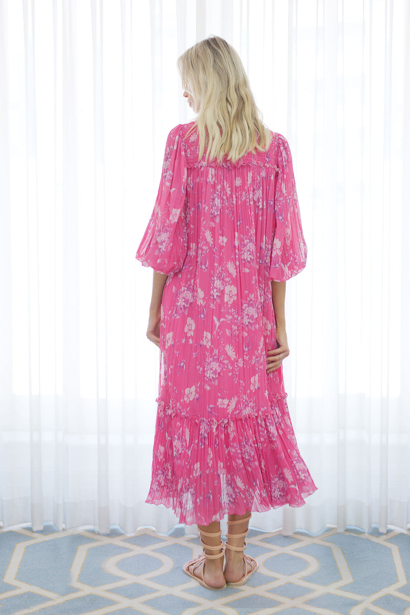 Songbird Dress in Fuchsia