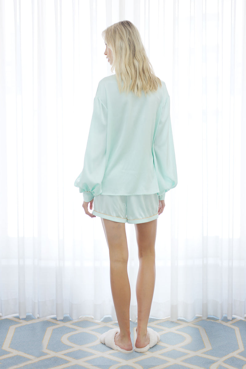 Seraphina Embroidery Shirt in Mint