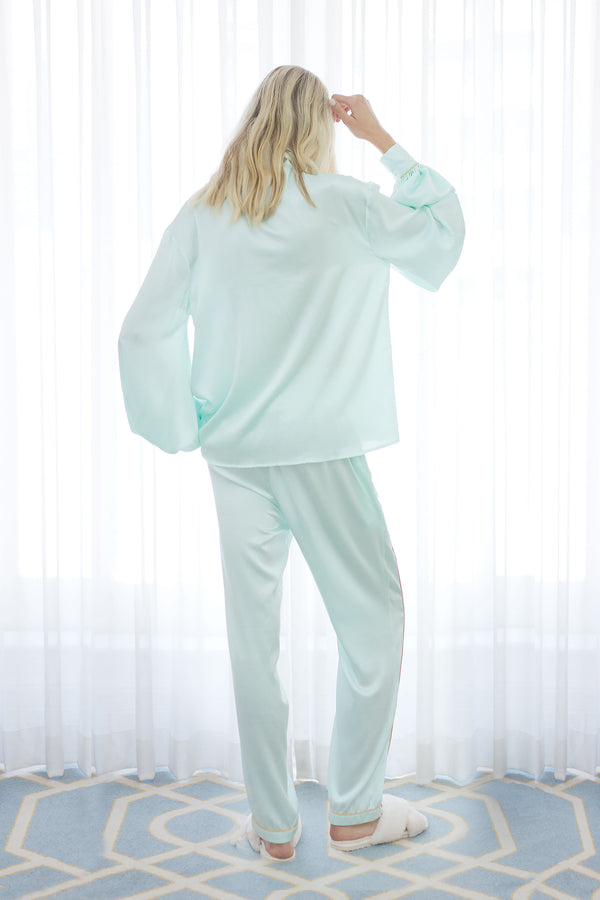 Seraphina Silk Pyjama Pant in Mint
