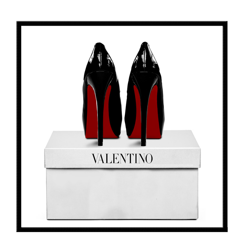 Valentino shoes shoe box  fashion  framed art print wall wal