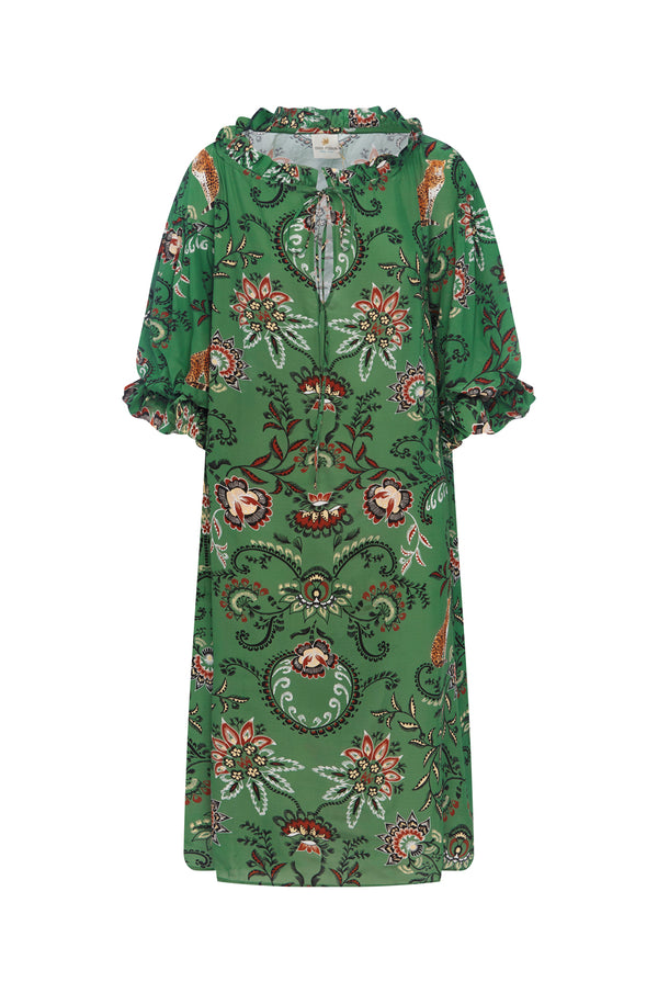 Safari Silk Dress in Green