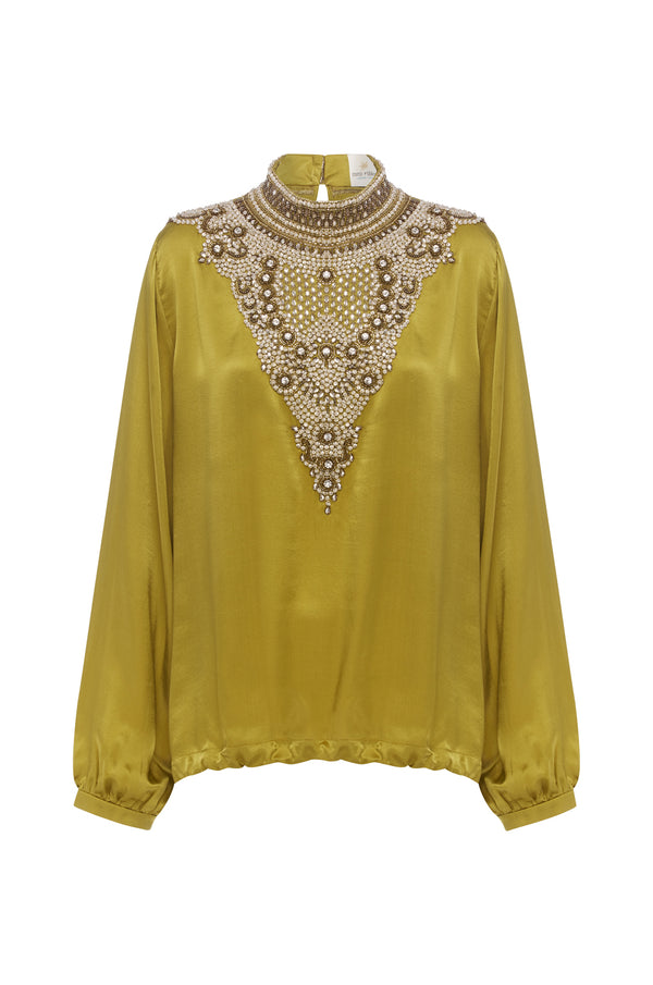 Crown Jewels Blouse IN GOLD