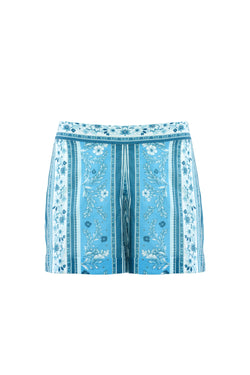 Cici Blue Mosaic Short