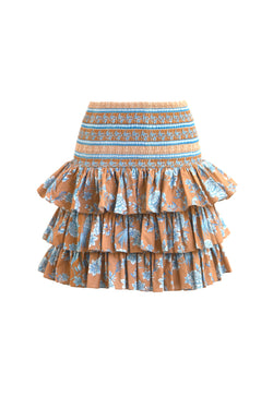 Serendipity Chinoiserie Skirt in Tan