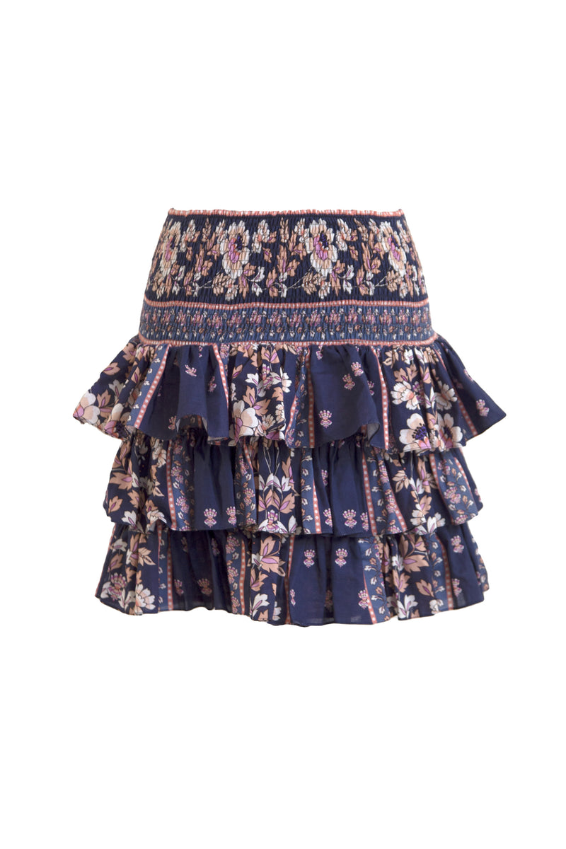 Tallulah Navy Scallop Skirt