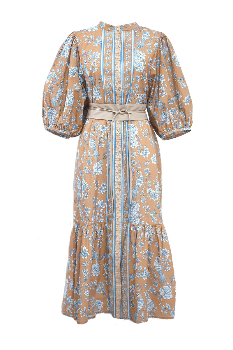 Serendipity Chinoiserie Midi Dress