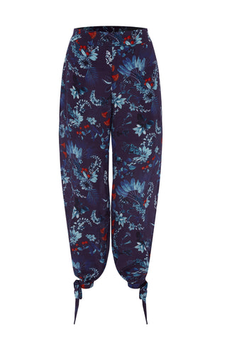 Harem Pants in Navy Berry