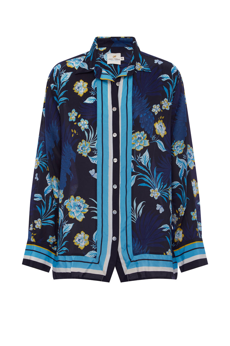 Wall flower Silk Blouse