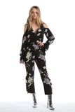 Jumpsuit in Black Chinoiserie