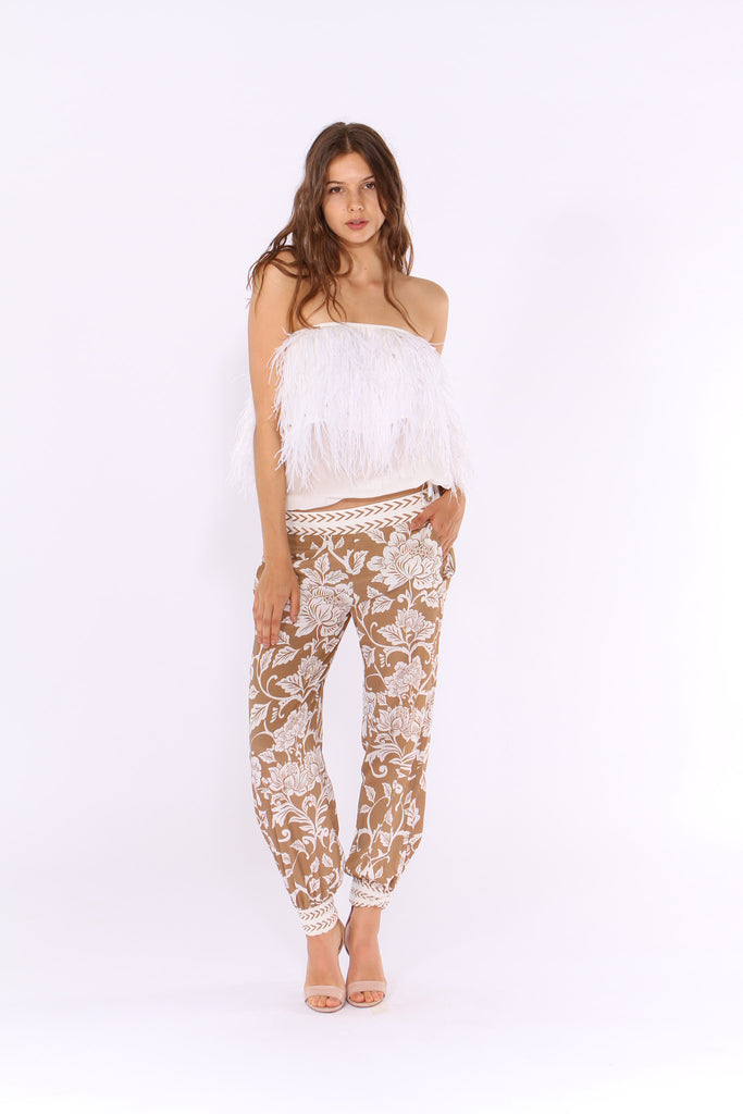 Harem Pant in Asian Fusion Coffee