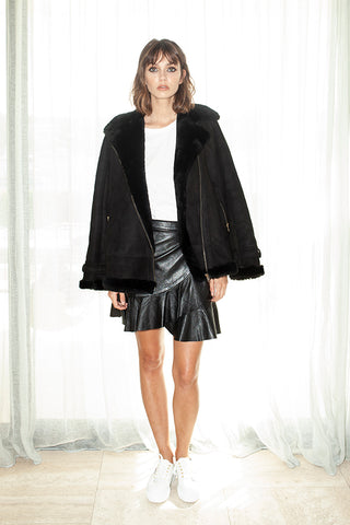 Shearling Jacket - Black or Sahara