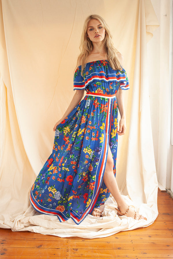 Here Comes the Sun Dress in Blue