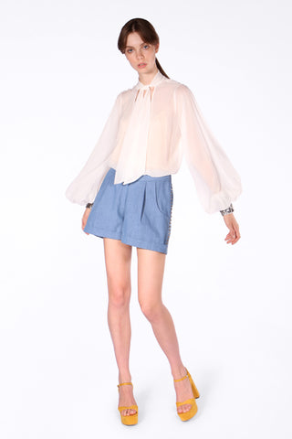 Let's Play in Paris Blouse - White