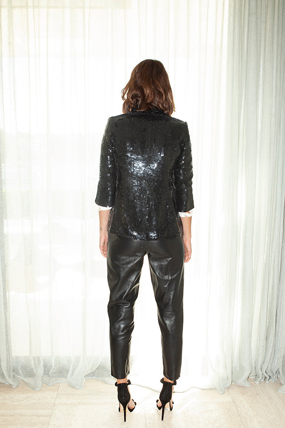 Sequin Jacket in Black