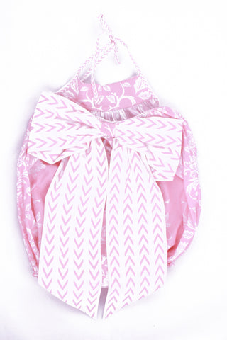 Cotton Romper in Pink Asian Fusion