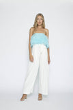 Silk White Culottes