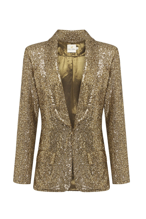 Bold New World Gold Sequin Jacket