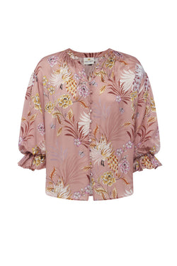 Peony Blouse in Blush Floral