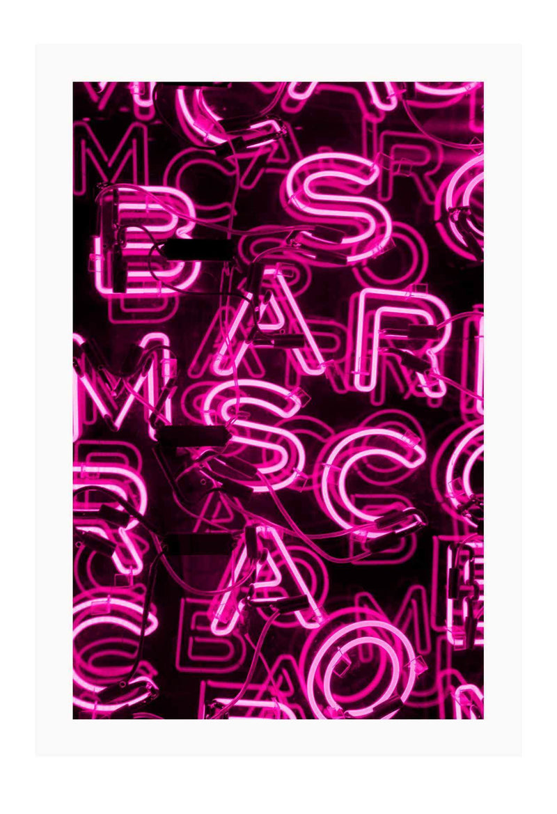 Marc Jacobs Neon Pink Fashion Fashion Label Print Wall Print Framed Art Poster Image Online Photo Painting Living Lounge