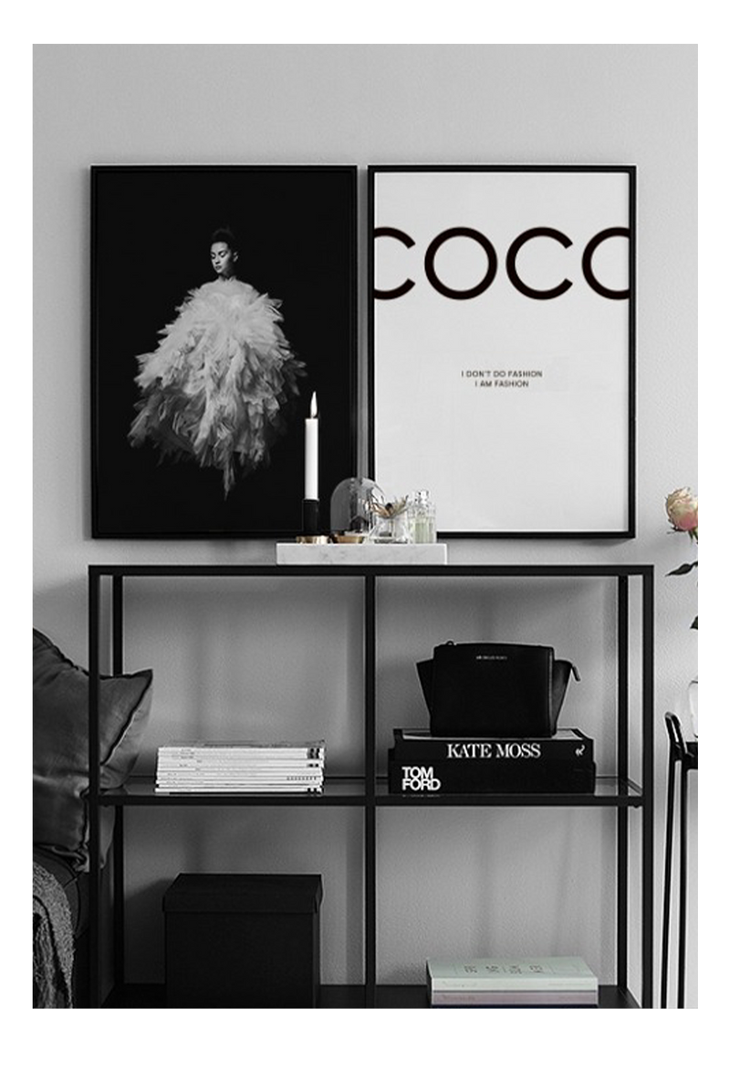 Coco Chanel Black And White I Dont Do Fashion I Am Fashion Quote Typography Fashion  Print Wall Print Framed Art Poster Image