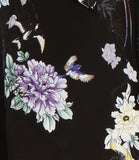 Capri Pants in Black Chinoiserie