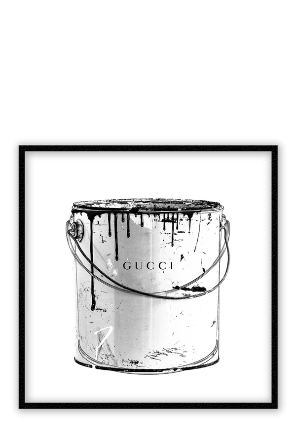 Gucci Paint Black And White Fashion Fashionista Fashion Label Print Wall Print Framed Art Poster Image Online Photo Painting
