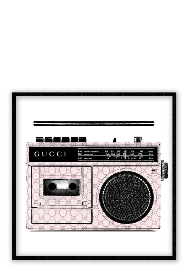 gucci recorder framed art fashion wall print pink  Homeware Furniture Interior Design 2019 Mordern Ideas - Canvas Home Interiors Sydney | Melbourne