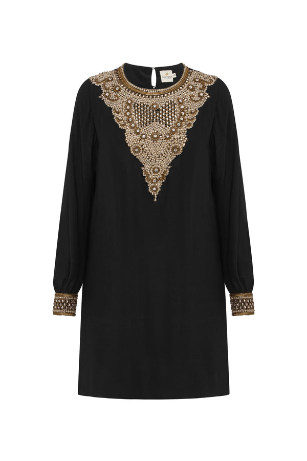 Little Black Bejewelled Dress