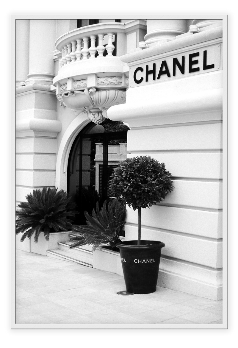 Chanel Store Paris Fashion Store Parisian Fashionista White Building France Print Wall Print Framed Art Poster Image Online