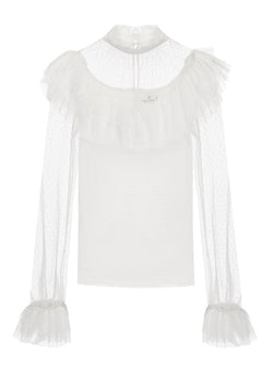 Lace Story Blouse in White