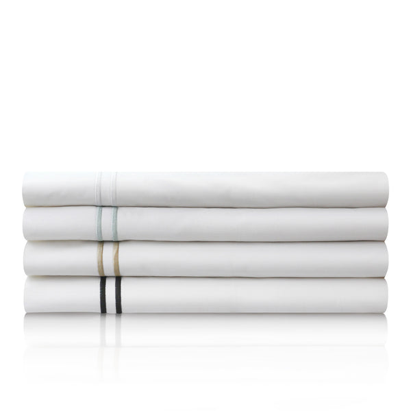 Malouf Fine Linens 200TC Cotton Percale White Pillowcases