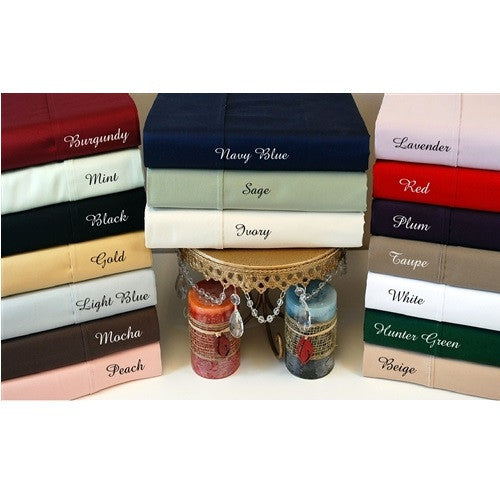 Luxor Treasures Egyptian Cotton 300 Thread Count Solid Sheet Set - Special Sizes