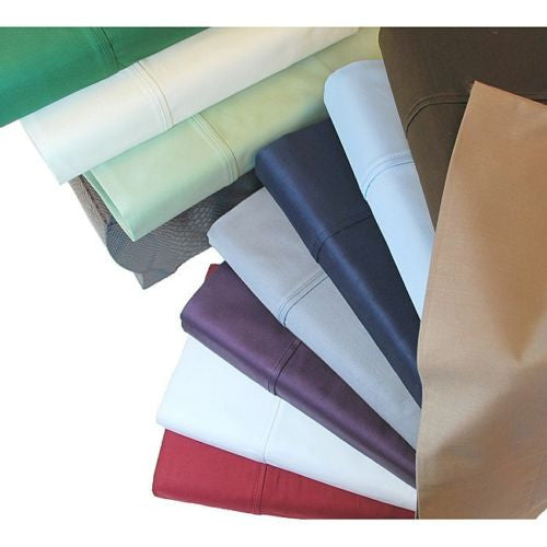 Luxor Treasures Egyptian Cotton 400 Thread Count Sateen Solid Sheet Set