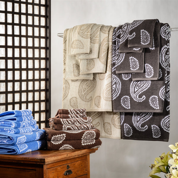 Luxor Treasures Superior Paisley 100% Cotton 6-Piece Towel Set