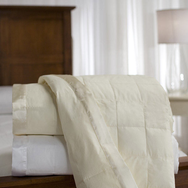 Downlite Satin Trim 230TC White Duck Down Blanket