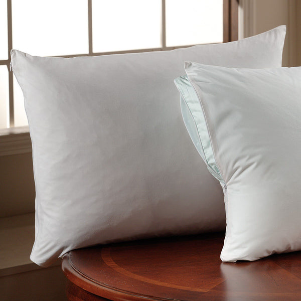 Downlite 375 TC Set of 2 Cotton Twill Satin Trim Pillow Protectors
