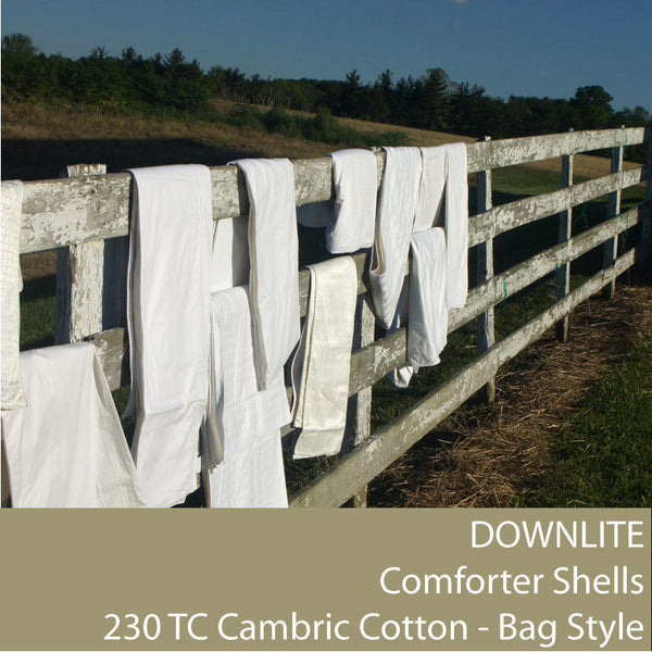 Downlite DIY 230TC Cambric Cotton Bag Style Comforter Shell