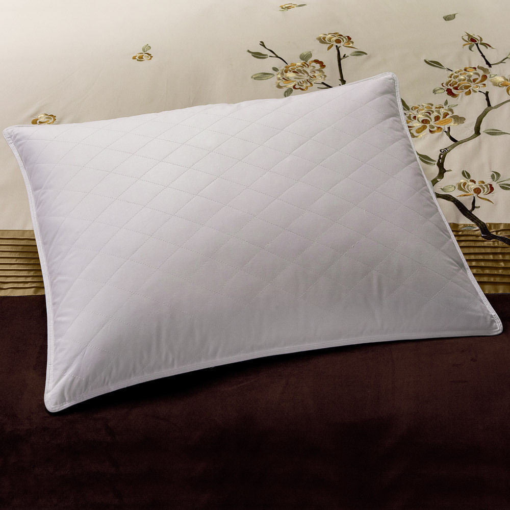 Downlite Hotel Quilted 5/95 White Duck Down & Feather Blend Pillow