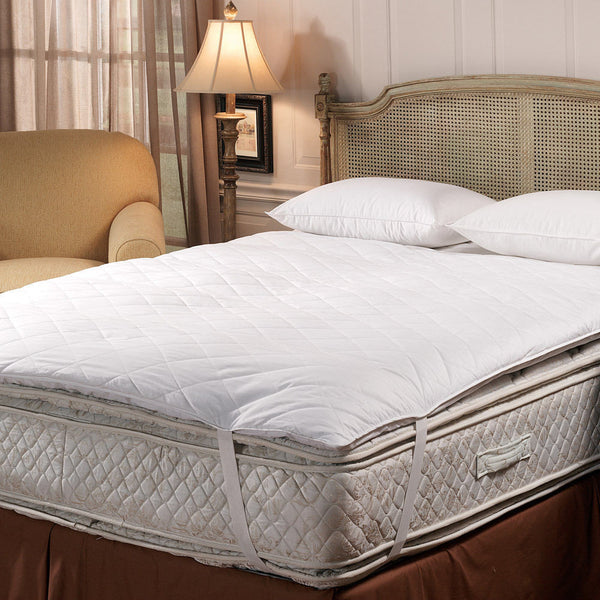 Downlite Hotel Quilted Top Baffle Box Ecocluster Fiberbed - With Straps