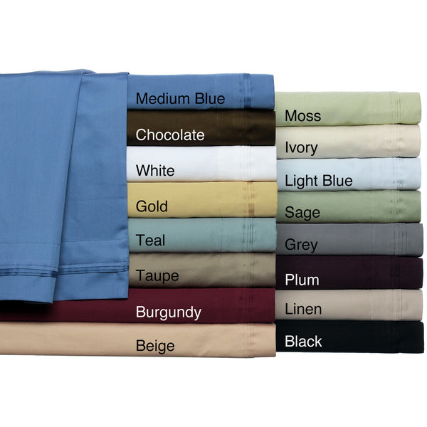 Luxor Treasures Egyptian Cotton 650TC Damask Solid Sheet Set