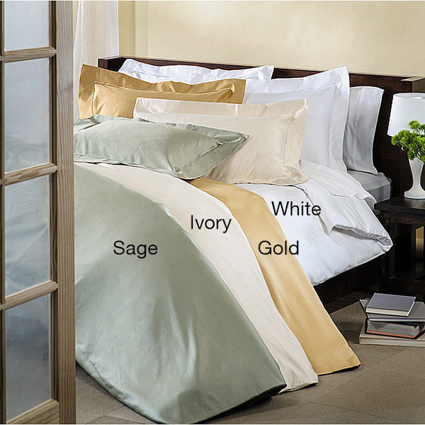 Luxor Treasures 800TC Solid Cotton Duvet Cover & Pillow Sham Set