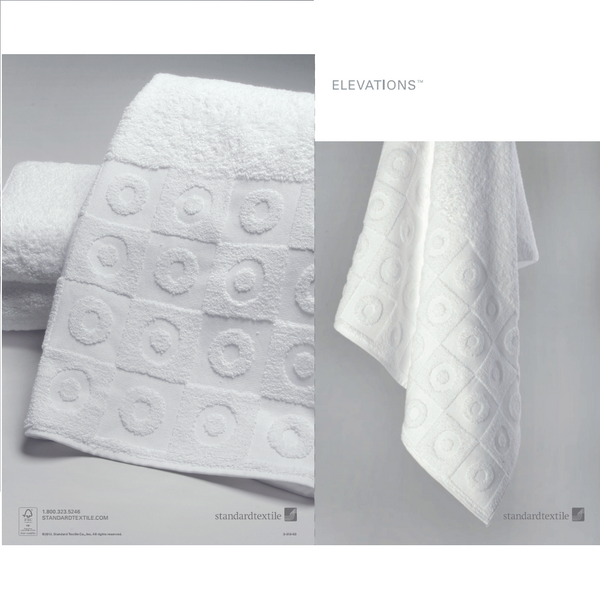 Standard Textile Elevations Window Pattern 12 Hotel Wash Towel Set